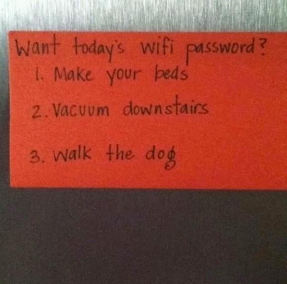 Papás haciendo un buen trabajo - ¿Quieres la contraseña de hoy?