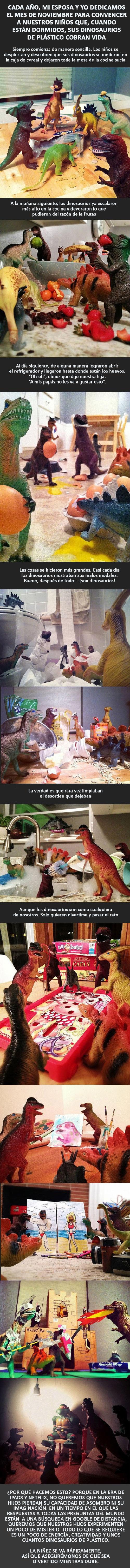 Papás haciendo un buen trabajo - Historia de dinosaurios