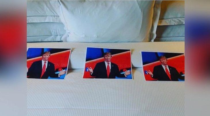 Peticiones absurdas hoteles - Tres fotos de Donald Trump