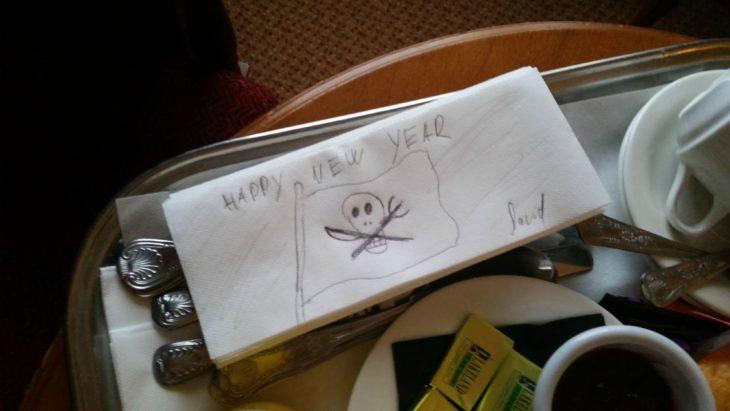 Peticiones absurdas hoteles - Dibujo en la servilleta del hotel