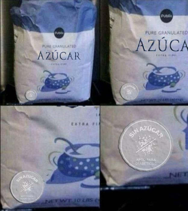 Paquete de azúcar sin azucar