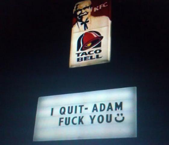 Anuncio Taco Bell - Renuncio Adam Fuck You