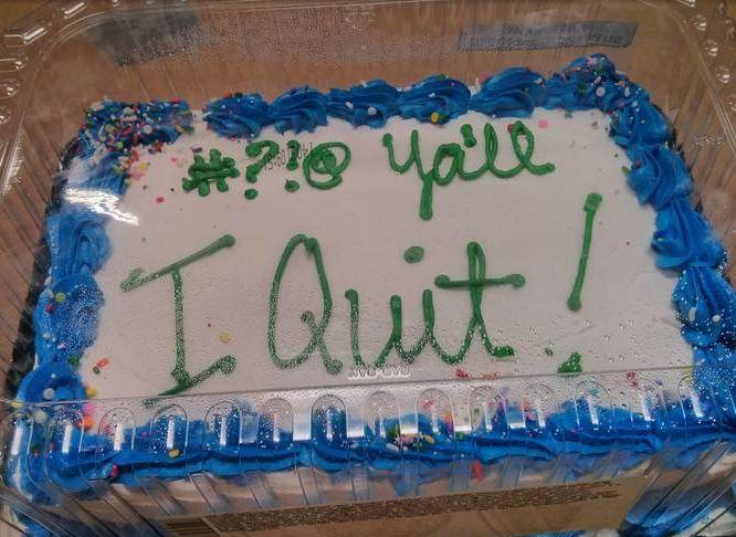 Renuncia pastel