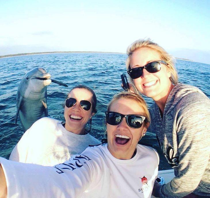 delfien en la selfie