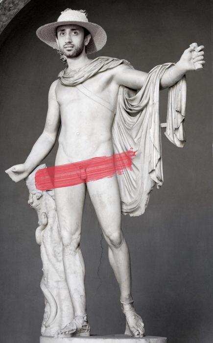 en la estatua desnudo