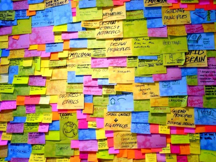 COLCA POST IT CON LAS IDEAS PRINCIPALES