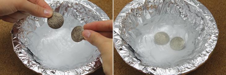 Limpia tu plata con papel alumnio