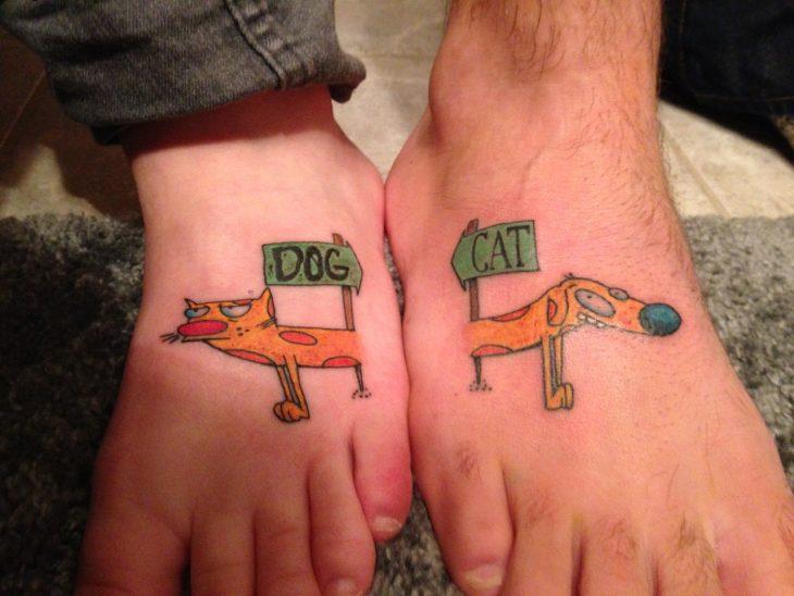 tatuaje catdog