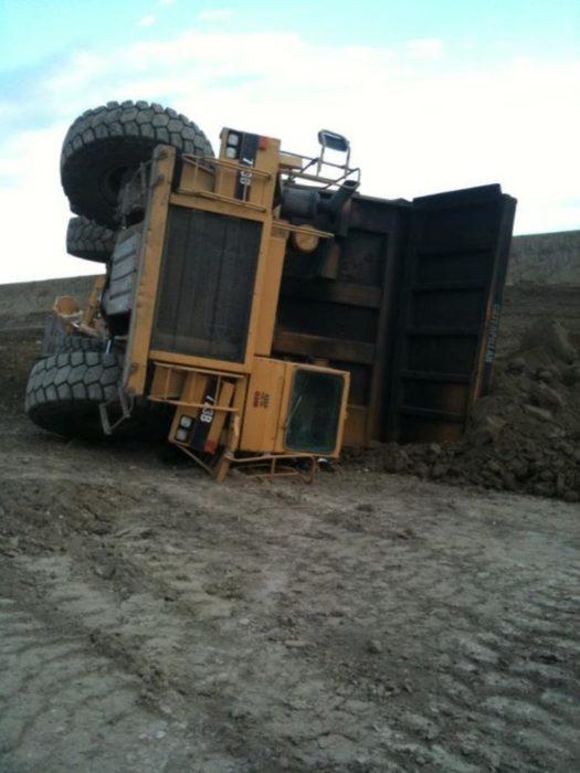 tractor caído