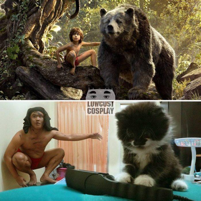 disfraz barato de mowgli