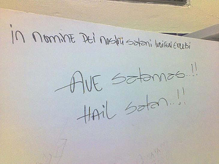 graffiti satánico