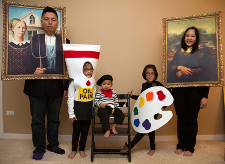 disfraz familiar de obras de arte