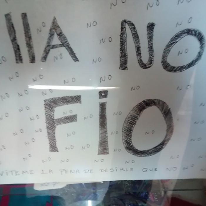 """cartel """"lla no fio"""""""