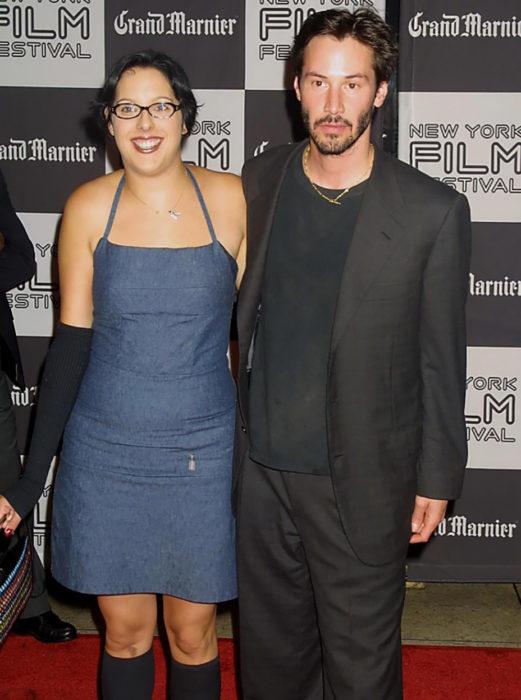 Keanu Reeves con su hermana Kim