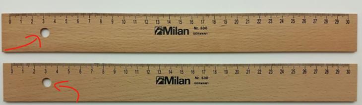 dos reglas de madera
