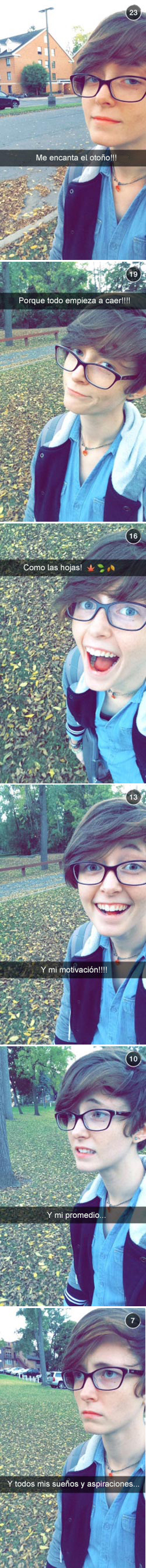 Historia snapchat, en otoño todo cae