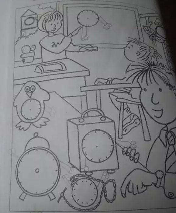 dibujo de relojes
