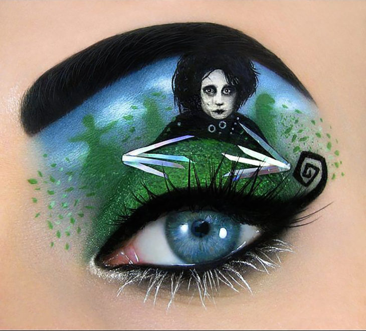 maquillaje para ojos Edward Scissorhands