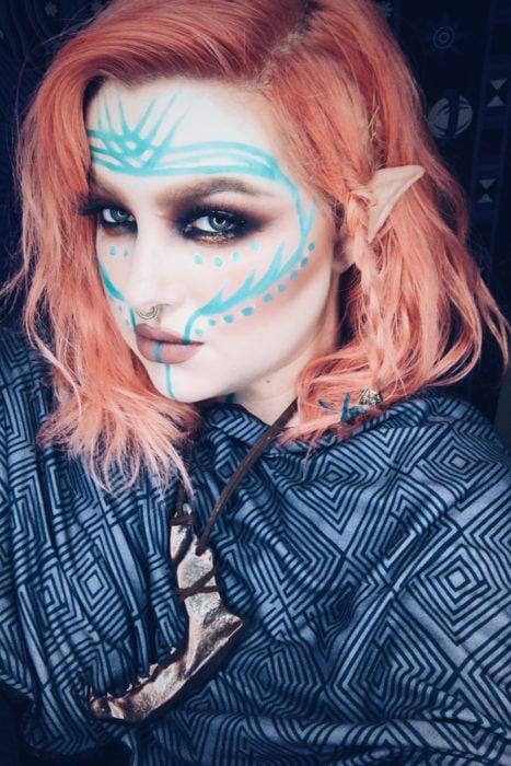 maquillaje hada tribal