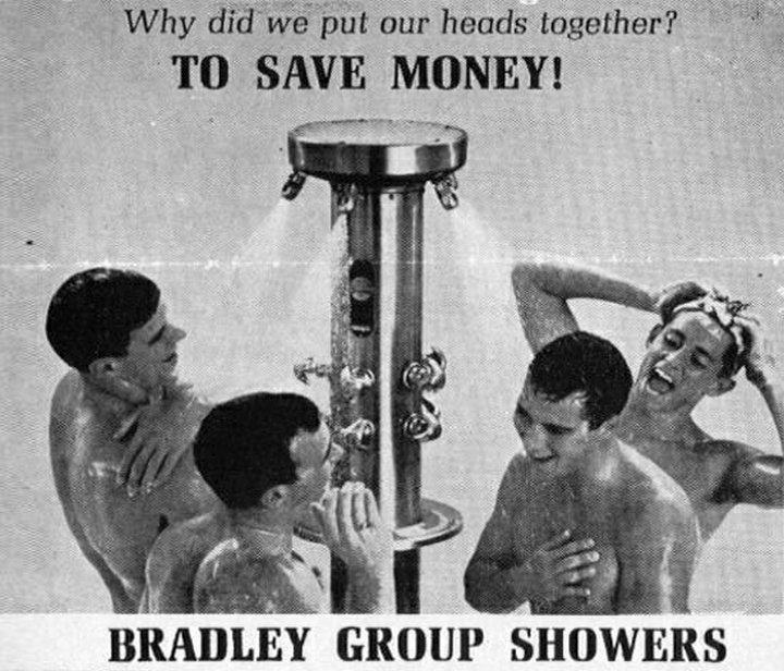 ducha para múltiples personas antigua