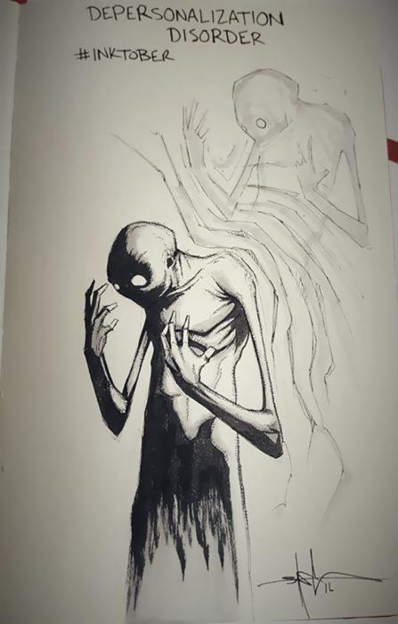 ilustración Trastorno de Despersonalización