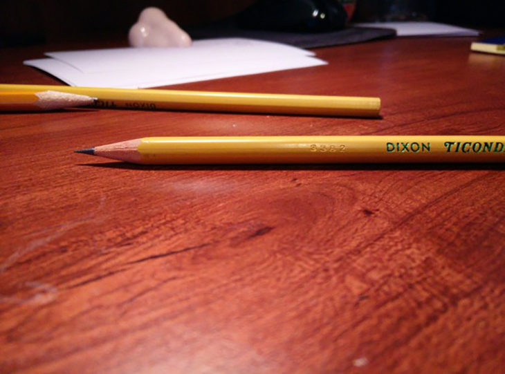 lápiz de punta sacada erfectamente