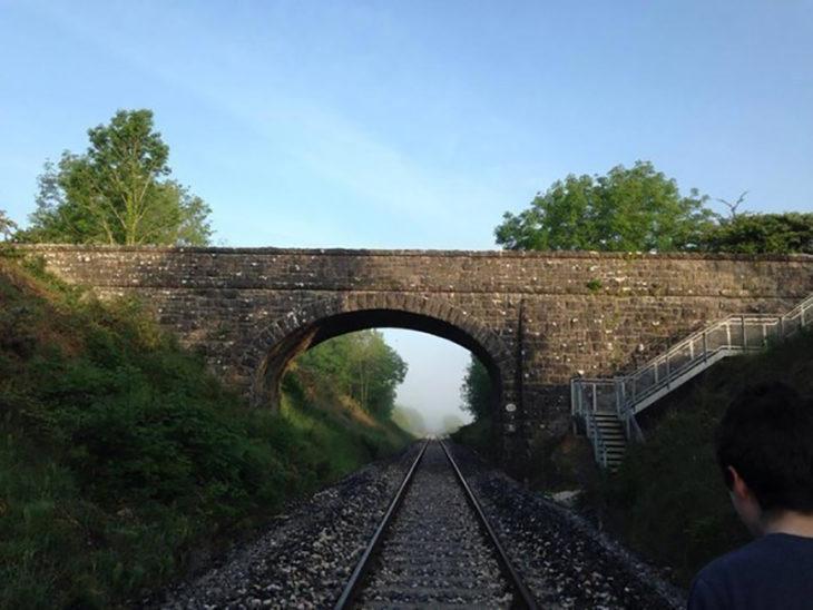 puente y vías del tren