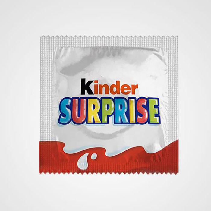 preservativo kinder sorpresa