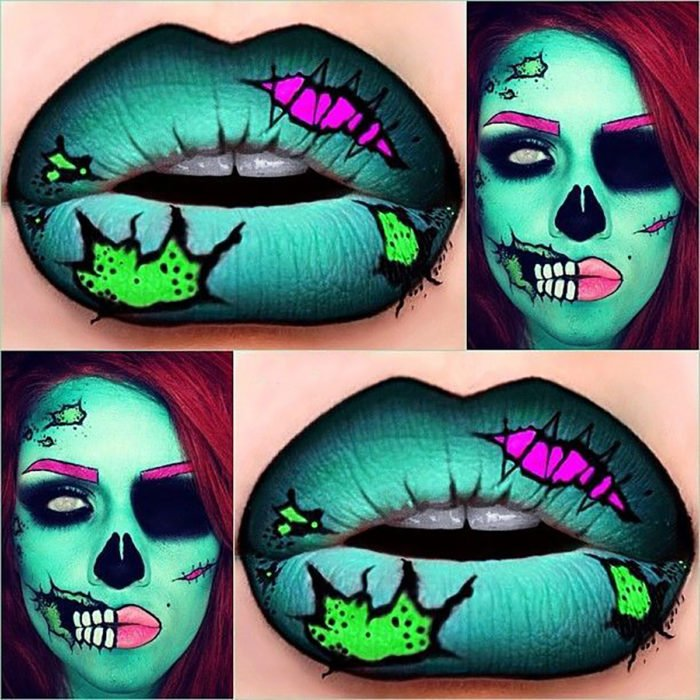 maquillaje de caricatura zombie