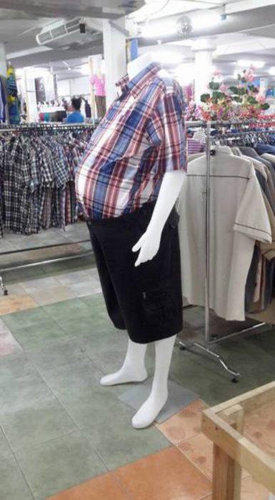 maniquí masculino gordo