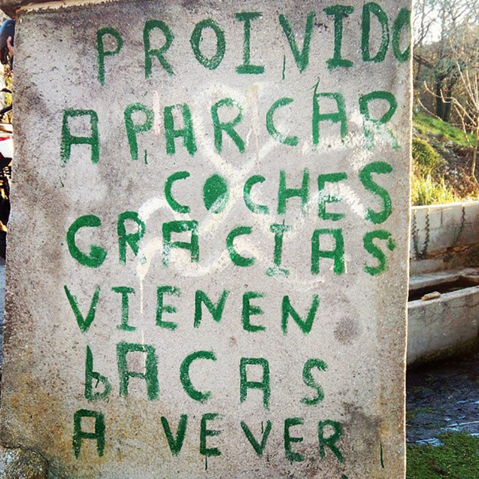pared escrita con letras colores verdes