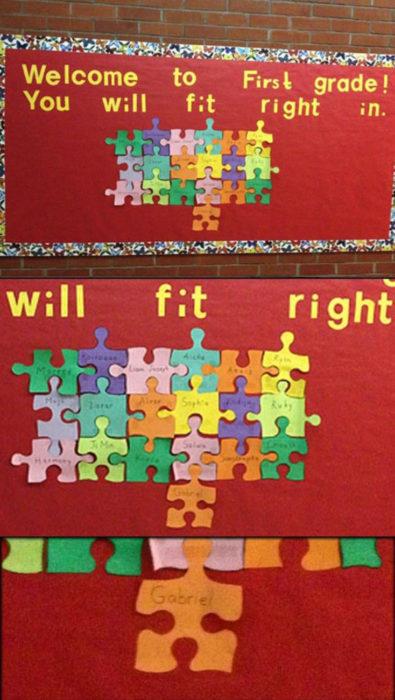 pared con piezas de rompecabeza
