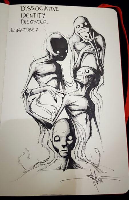 ilustración de Trastorno de Identidad Disociativo
