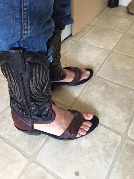 botas rancheras sandalias