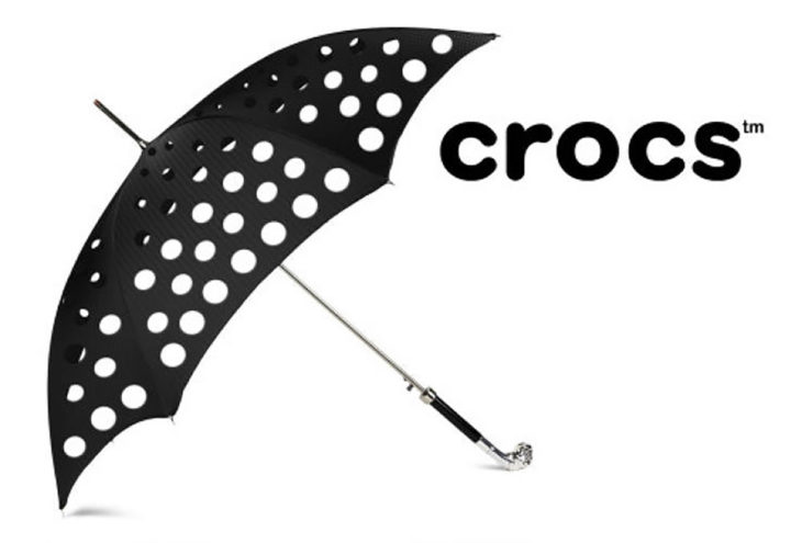 paraguas crocs