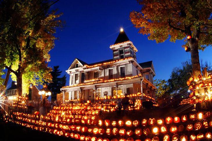 decoración de exterior halloween