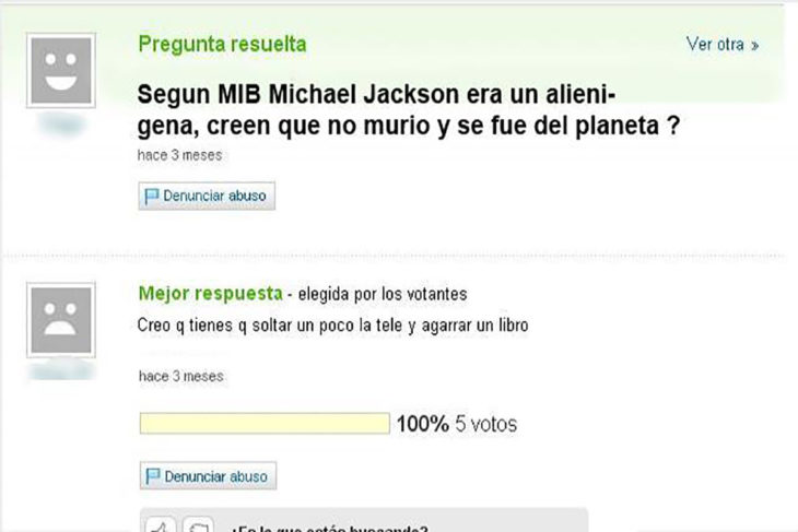 yahoo preguntas michael jackson