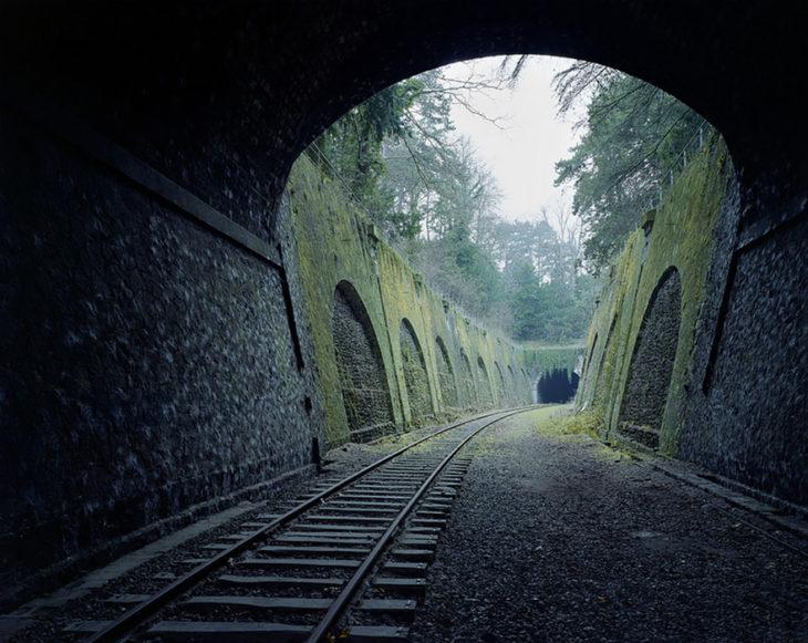 Vias del tren abandonadas