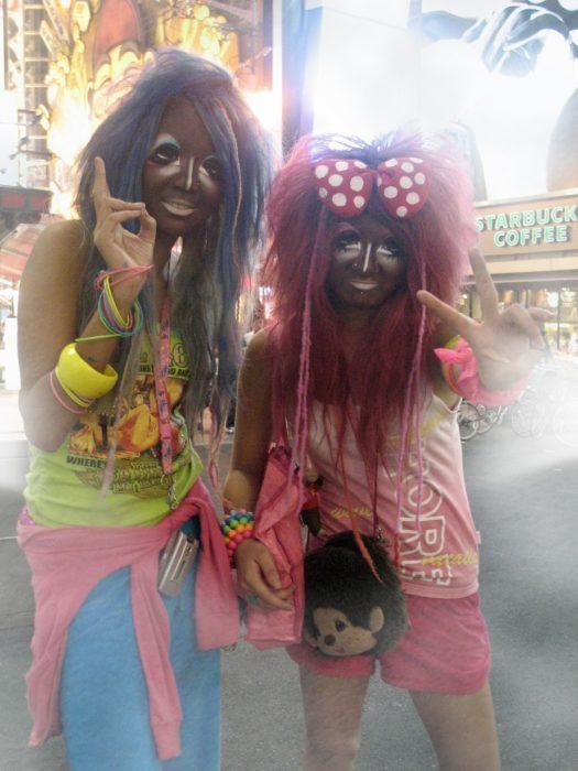 maquillaje japonés oscuro