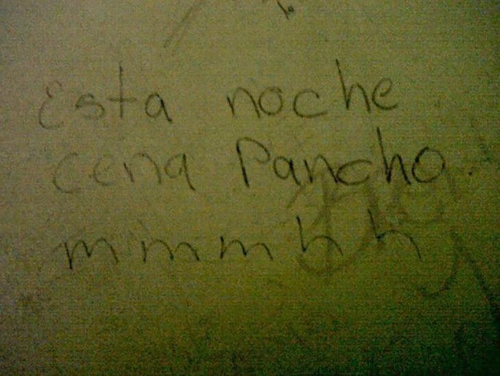 graffiti esta noche cena pancho