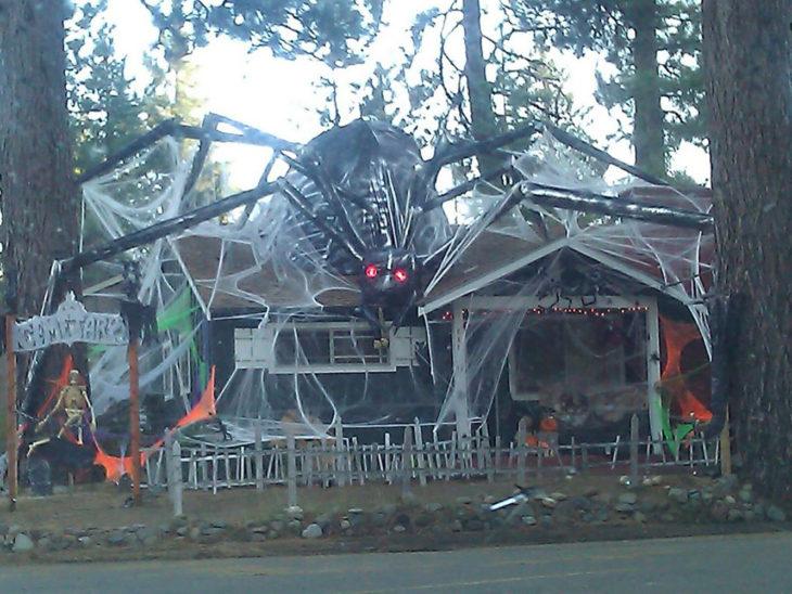 decoración de exterior halloween araña gigante