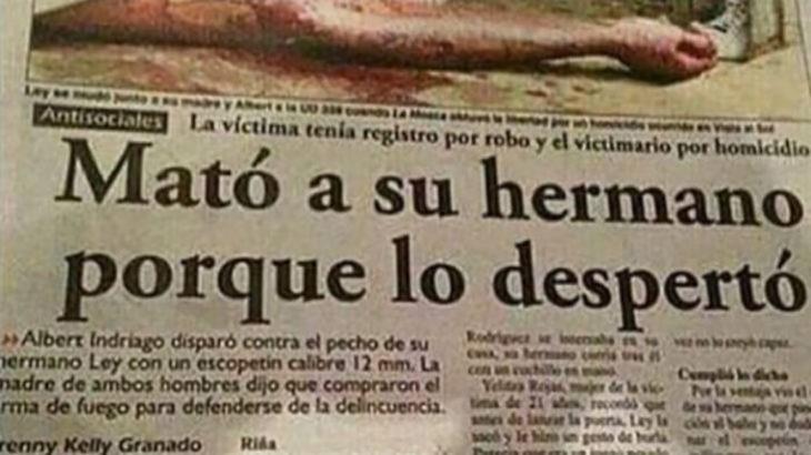 periódico mató a su hermana