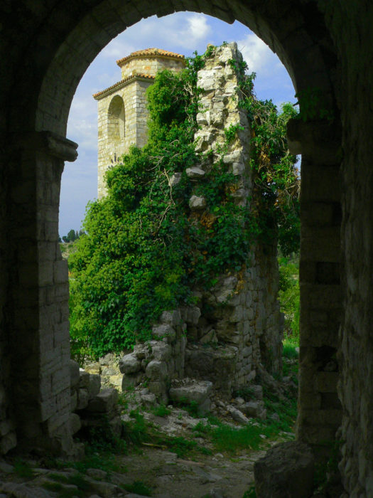 Castillo lleno de hierbas