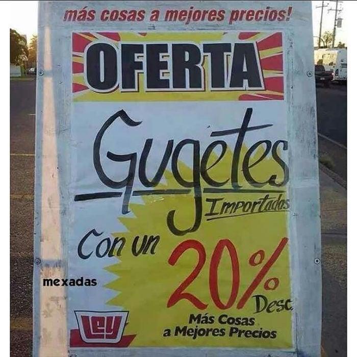 cartel de supermercado