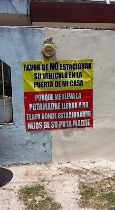 cartel no estacionarse