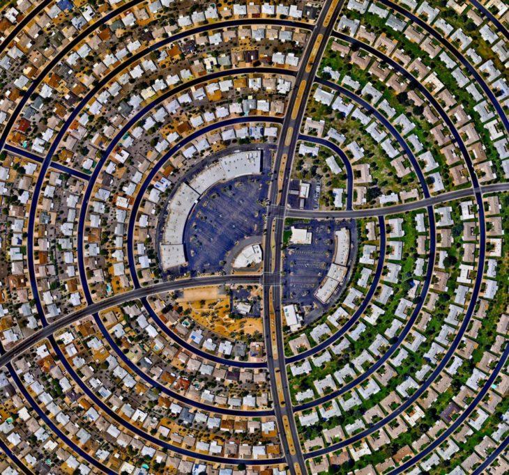 ciudad vista desde el cielo