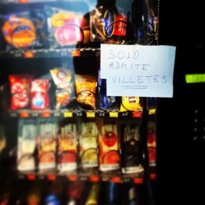 máquina expendedora de frituras