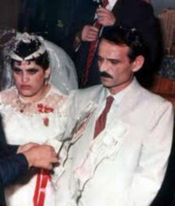 novios enojados en su boda
