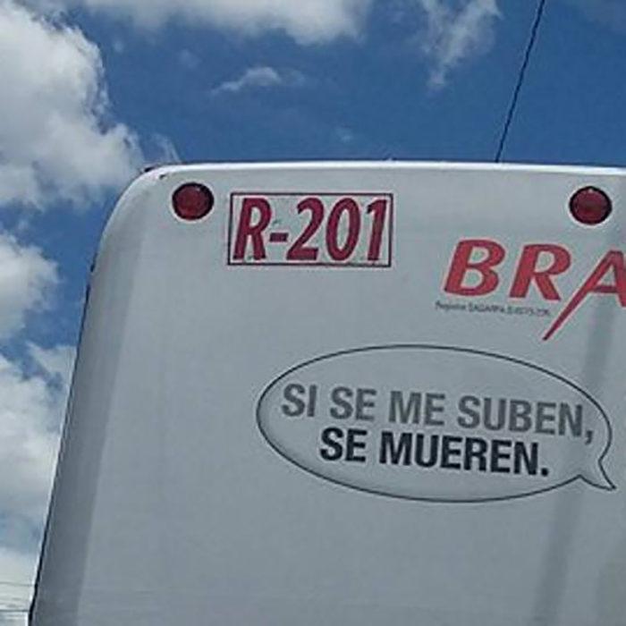 rótulo en camión