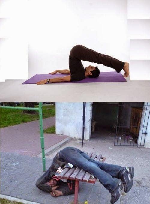 Poses yoga borrachos - Del arado hombre